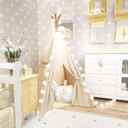 Cabana Quarto de Bebê Amiguinhos Amarelo