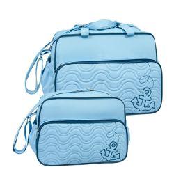 Conjunto de Bolsas Maternidade Marinheiro Azul