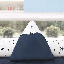 Almofada Montanha Estrelinhas Azul Marinho