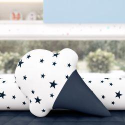 Almofada Sorvete Estrelinhas Azul Marinho
