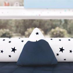 Almofada Mini Montanha Estrelinhas Azul Marinho 16cm