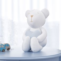 Urso com Coração Azul 42cm
