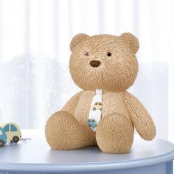 Urso com Gravata Carrinhos Amarelo 40cm
