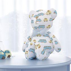 Urso Carrinhos Amarelo com Gravata 42cm