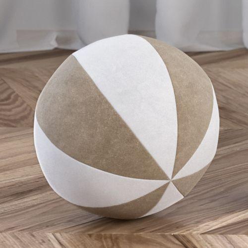 Bola de Plush Branco/Cáqui 22cm