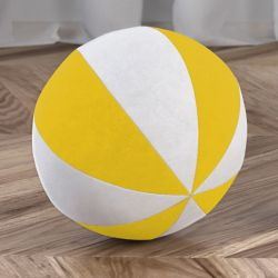 Bola de Plush Branco/Amarelo 22cm