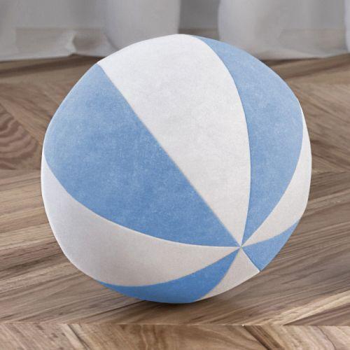 Bola de Plush Branco/Azul Bebê 22cm
