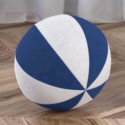 Bola de Plush Branco/Azul Marinho 22cm