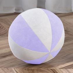 Bola de Plush Branco/Lilás 22cm