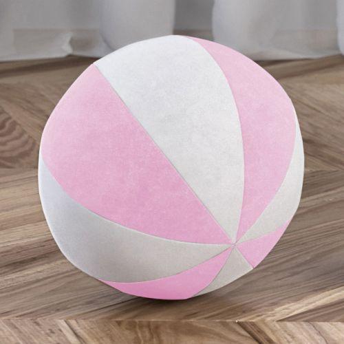 Bola de Plush Branco/Rosa 22cm