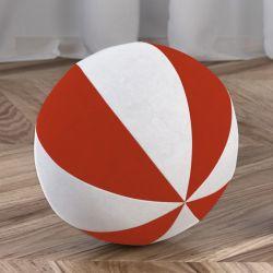 Bola de Plush Branco/Vermelho 22cm