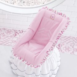 Capa para Bebê Conforto Patchwork Rosa