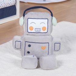 Boneco Robô Cinza 60cm