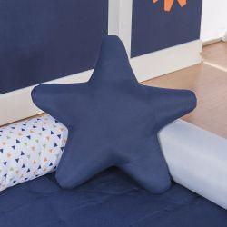 Almofada Estrela Azul Marinho Robô 30cm