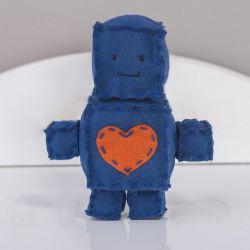 Boneco de Feltro Robô Azul 15cm