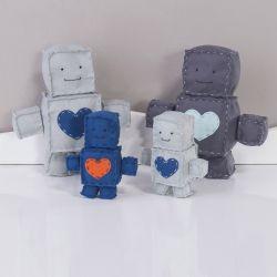 Bonecos de Feltro Robô