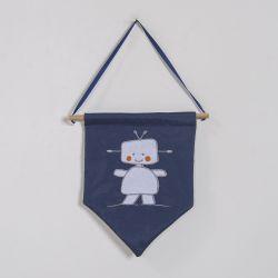 Flâmula Robô Azul Marinho