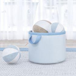 Cesto Organizador para Brinquedos Azul Bebê 35cm