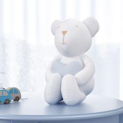 Urso Clássico com Coração Azul 15cm