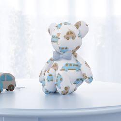 Urso Clássico Carrinhos com Gravata 15cm