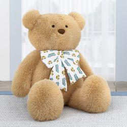 Urso Gigante com Laço Carrinhos Amarelo 1m