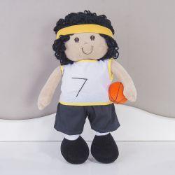 Boneco de Pano Jogador de Basquete Amarelo 39cm