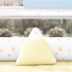 Almofada Mini Montanha Estrelinhas Amarelo 16cm