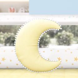 Almofada Lua Pompom Amarela