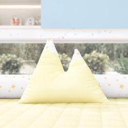 Almofada Montanhas Estrelinhas Amarelo 39cm