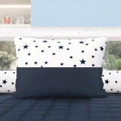 Almofada Estrelinhas Azul Marinho 43cm
