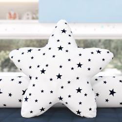 Almofada Estrela Estampada Azul Marinho