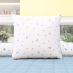 Almofada Quadrada Estrelinhas Azul