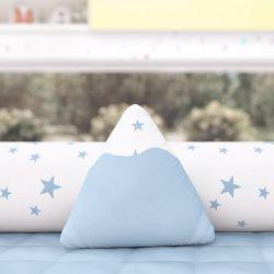 Almofada Mini Montanha Estrelinhas Azul 16cm