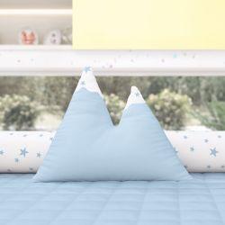 Almofada Montanhas Estrelinhas Azul