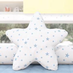 Almofada Estrela Estampada Azul