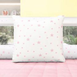 Almofada Quadrada Estrelinhas Rosa