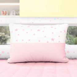 Almofada Estrelinhas Rosa 43cm