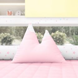 Almofada Montanhas Estrelinhas Rosa 39cm