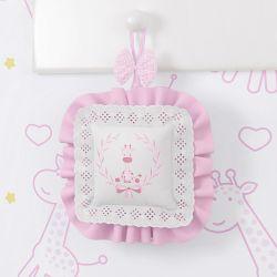Porta Maternidade Girafinha Clássica Rosa
