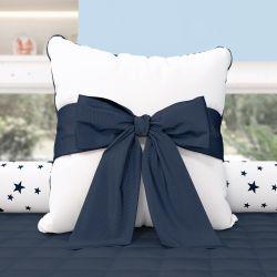 Almofada Laço Azul Marinho 38cm