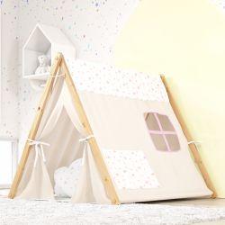 Cabana Quarto de Bebê Estrelinhas Rosa