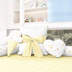 Almofadas Decorativas Estrelinhas Amarelo