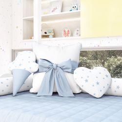 Almofadas Decorativas Estrelinhas Azul