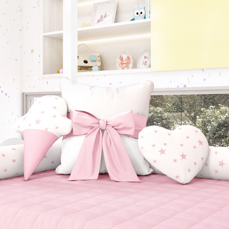 d1aade7ff Almofadas Decorativas Estrelinhas Rosa
