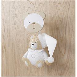 Enfeite para Puxador Ursinho Branco Clássico