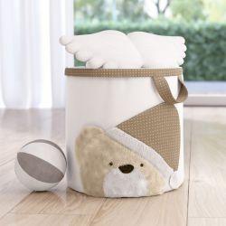 Cesto Organizador para Brinquedos Branco Clássico 32cm