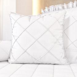 Almofada Nervura Branco Clássico 38cm