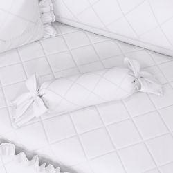 Almofada Apoio Bala Branco Clássico 60cm