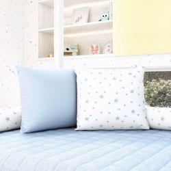 Almofadas Quadradas Estrelinhas Azul