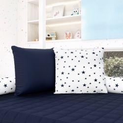 Almofadas Quadradas Estrelinhas Azul Marinho